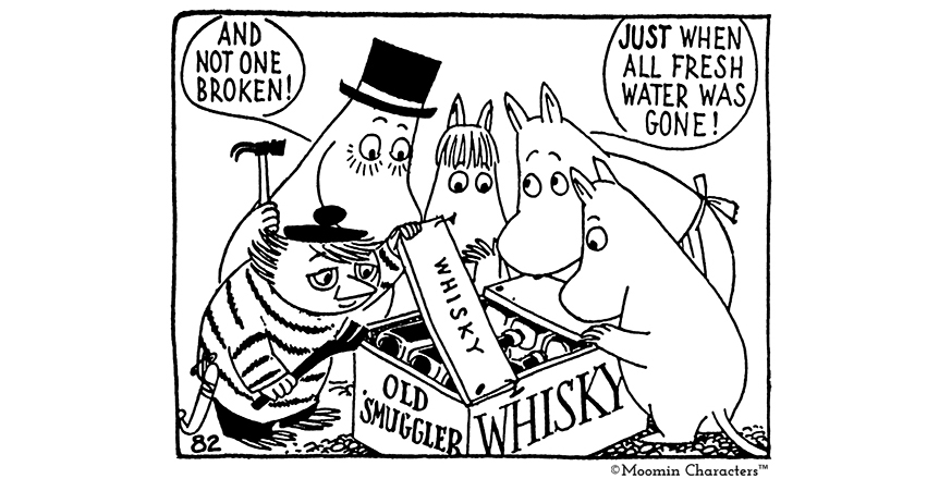Moominpappa (top left) shows the kids how it's done Credit: MoominCharacters