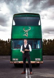 Glenfiddich ambassador Luke Sanderson with our definition of a magic bus Credit: Glenfiddich
