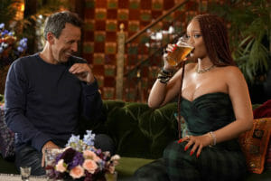 Boy, can she drink it up*: Rihanna brings the dram